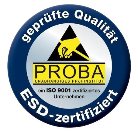 ESD Zertifizierung ISO 9001 - Proba Industrieberatung